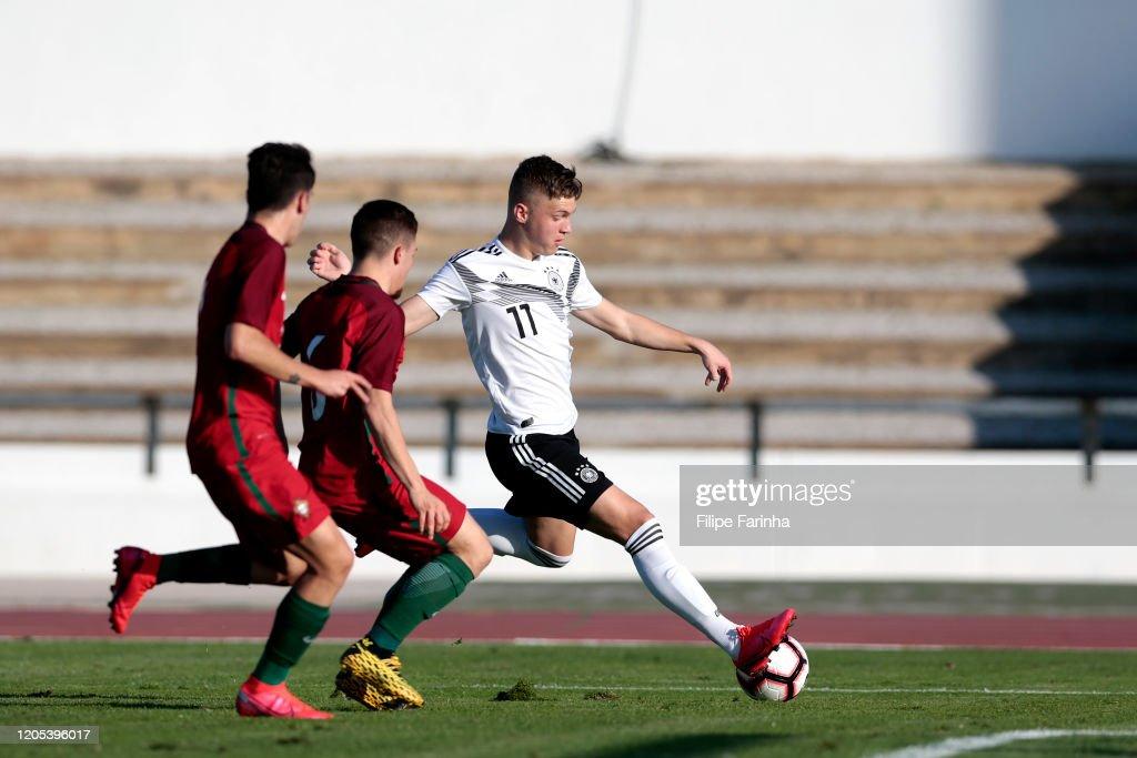 Germany U17 v Portugal U17 - Algarve U17 International Tournament : News Photo