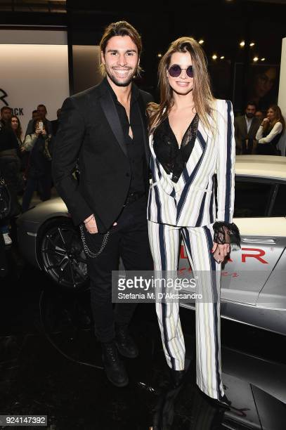 Luca Onestini and Ivana Mrazova attend MIDO 2018 the Milano Eyewear Show on February 25 2018 in Milan Italy