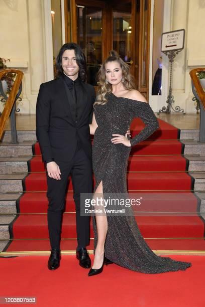 Luca Onestini and Ivana Mrazova attend the red carpet of the project Tra Palco E Città at the 70° Festival di Sanremo at Casinò on February 03 2020...