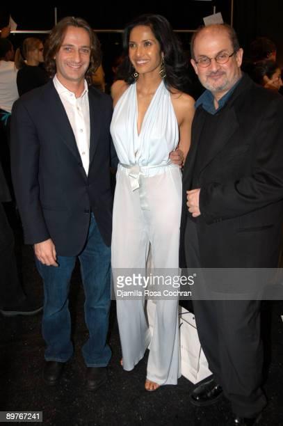 Luca Orlandi Padma Lakshmi and Salman Rushdie