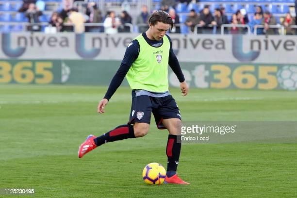 Luca Pellegrini of Cagliari in action during the Serie A match between Cagliari and Parma Calcio at Sardegna Arena on February 16 2019 in Cagliari...