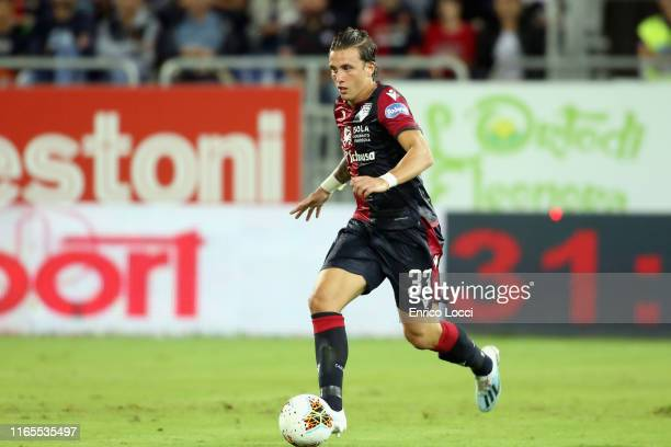 Luca Pellegrini of Cagliari in action during the Serie A match between Cagliari Calcio and FC Internazionale at Sardegna Arena on September 1, 2019...