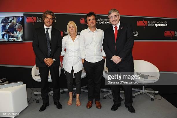 Luca Peyrano producers Tiziana Soudani Carlo CrestoDina and Vic Annels attend the UKItaly Creative Industries Award during the 69th Venice Film...