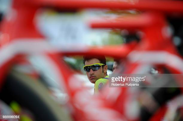 Luca Raggio of Wilier TriestinaSelle Italia is seen during Stage 4 of the Le Tour de Langkawi 2018 DungunPekan 1838 km on March 21 2018 in Pekan...