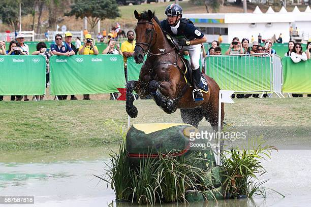 Luca ROMAN . CASTLEWOODS JAKE during the Cross Country Event on Day 3 on Olympic Games 2016 at Olympic Equestrian Centre on August 9, 2016 in Rio de...
