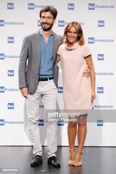 Luca Rosini and Ingrid Muccitelli attend the Rai Show Schedule presentation on June 27, 2018 in Milan, Italy.
