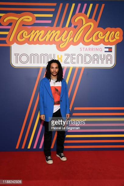 Luca Sabbat attends the Tommy Hilfiger TOMMYNOW Spring 2019 TommyXZendaya Premieres at Theatre des ChampsElysees on March 02 2019 in Paris France