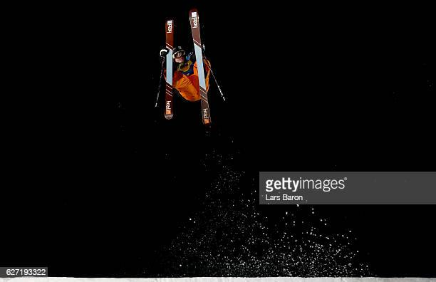 Luca Schuler of Switzerland competes during the Ski Big Air Final of the ARAG Big Air Freestyle Festival on December 2 2016 in Moenchengladbach...