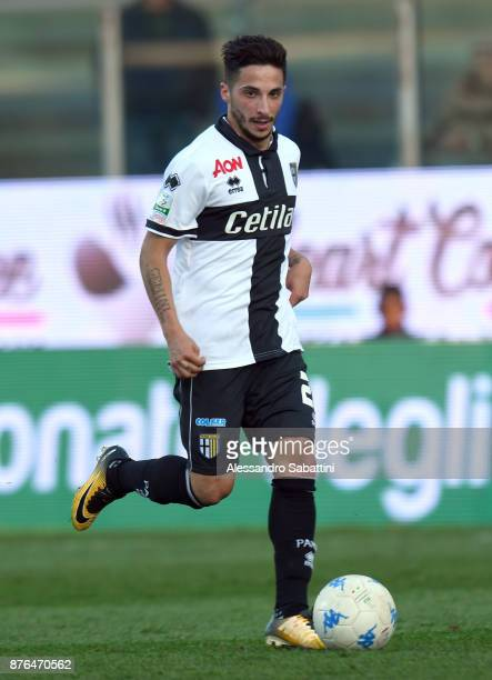 Luca Siligardi of Parma Calcio in action during the Serie B match between Parma Calcio and Ascoli Picchio at Stadio Ennio Tardini on November 18 2017...