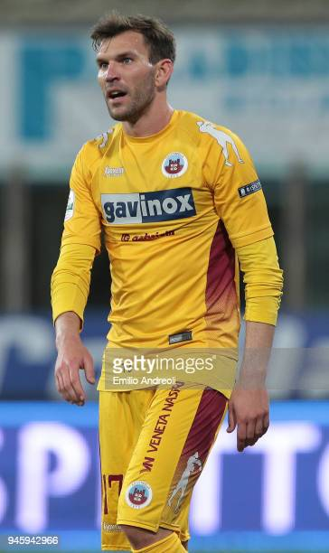 Luca Strizzolo of AS Cittadella looks on during the serie B match between Parma Calcio and AS Cittadella at Stadio Ennio Tardini on April 13 2018 in...