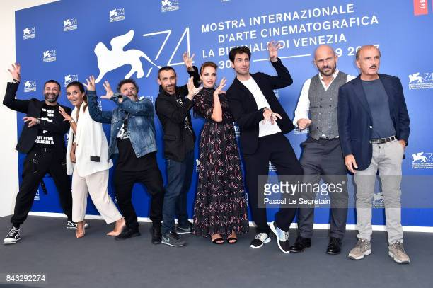 Luca Tommassini Serena Rossi Marco Manetti Antonio Manetti Claudia Gerini Giampaolo Morelli Raiz and Carlo Buccirosso attend the 'Ammore E Malavita'...