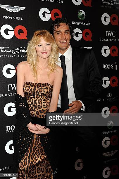 Luca Toni and his girlfriend Marta Cecchetto arrive at the 2008 GQ Men of the Year Award at the Congress Hall on November 13 2008 in Munich Germany