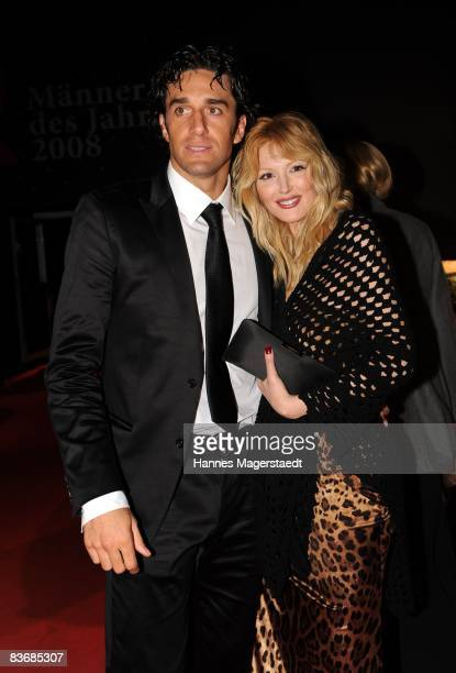 Luca Toni and Marta Cecchetto arrives for the 2008 GQ Men of the Year Award at the Congress Hall on November 13 2008 in Munich Germany