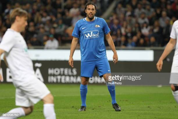 Luca Toni during quotLa partita del Maestroquot the farewell match by Andrea Pirlo at Giuseppe Meazza stadium on May 21 2018 in Milan Italy