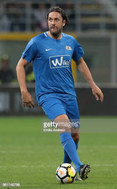 Luca Toni in action during Andrea Pirlo Farewell Match at Stadio Giuseppe Meazza on May 21 2018 in Milan Italy