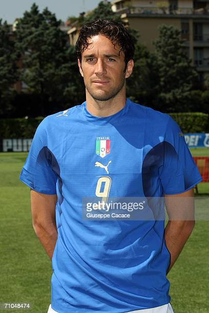 Luca Toni of Italy poses on May 25 2006 in Coverciano Italy