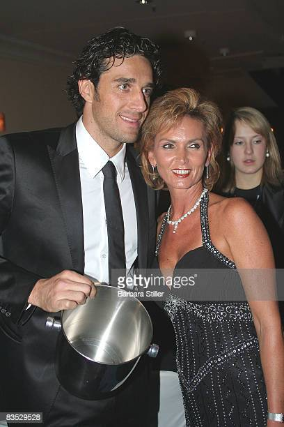 Luca Toni selling lottery tickets at the UNESCO Benefit Gala for Children 2008 at Hotel Maritim on November 1 2008 in Cologne Germany