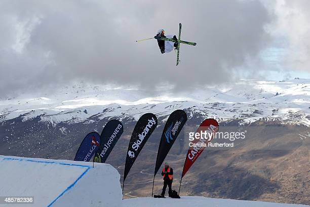 Luca Tribondeau of Austria competes in the Snowboard AFP Freeski Big Air Finals during the Winter Games NZ at Cardrona Alpine Resort on August 30...