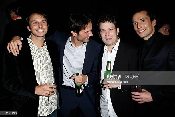 Luca Verhoeven and brother director Simon Verhoeven and actor Christian Ulmen and producer Quirin Berg attend premiere of 'Maennerherzen' at CineMaxx...
