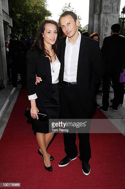 Luca Verhoeven and wife Stephanie attend the 'Bayerischer Fernsehpreis 2010' at Prinzregententheater on May 21 2010 in Munich Germany