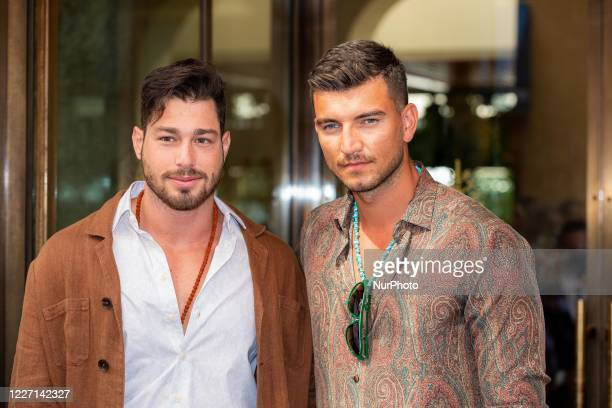 Luca Vezil and Marco Fantini attends the Etro fashion show during Milan Digital Fashion Week on July 15 2020 in Milan Italy