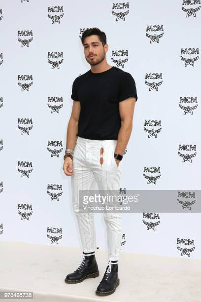 Luca Vezil attends the MCM Fashion Show Spring/Summer 2019 during the 94th Pitti Immagine Uomo on June 13 2018 in Florence Italy