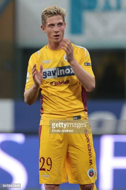 Luca Vido of AS Cittadella looks on during the serie B match between Parma Calcio and AS Cittadella at Stadio Ennio Tardini on April 13 2018 in Parma...