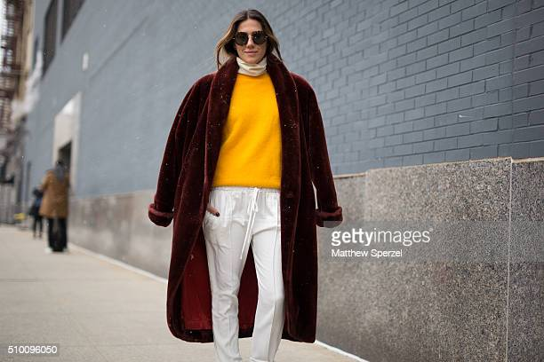 Luca Vilario is seen at Lacoste during New York Fashion Week Women's Fall/Winter 2016 on February 13 2016 in New York City