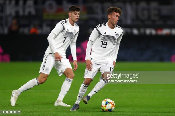 Luca Waldschmidt and Kai Havertz of Germany in action during the international friendly match between Germany and Argentina at Signal Iduna Park on...