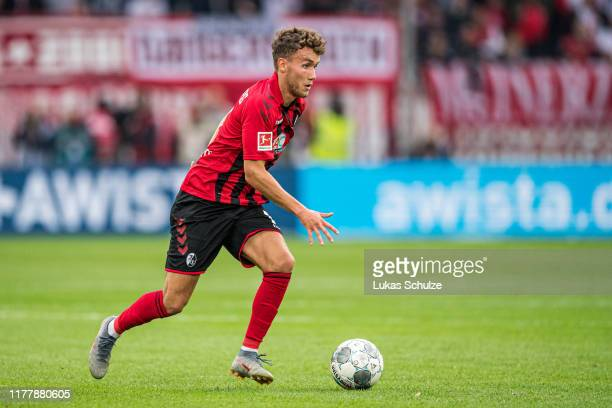 Luca Waldschmidt of Freiburg controls the ball during the Bundesliga match between Fortuna Duesseldorf and SportClub Freiburg at Merkur SpielArena on...
