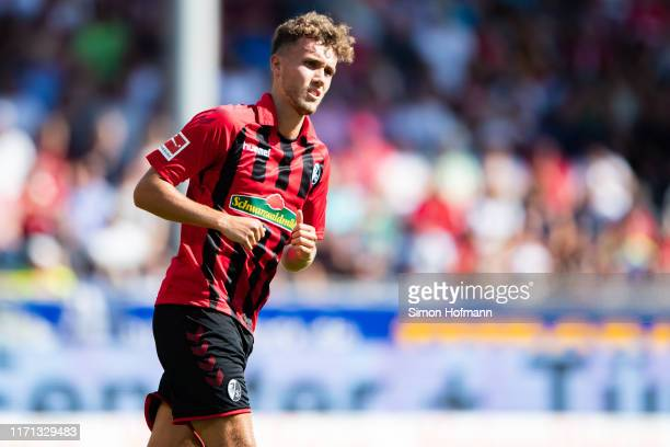Luca Waldschmidt of Freiburg looks on during the Bundesliga match between SportClub Freiburg and 1 FC Koeln at SchwarzwaldStadion on August 31 2019...