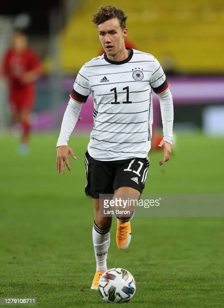 Luca Waldschmidt of Germany controls the ball during the international friendly match between Germany and Turkey at RheinEnergieStadion on October...