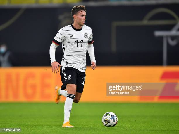 Luca Waldschmidt of Germany in action during the international friendly match between Germany and Czech Republic at Red Bull Arena on November 11,...