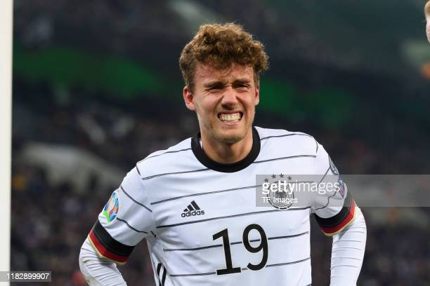 Luca Waldschmidt of Germany injured during the UEFA Euro 2020 Qualifier between Germany and Belarus on November 16 2019 in Moenchengladbach Germany