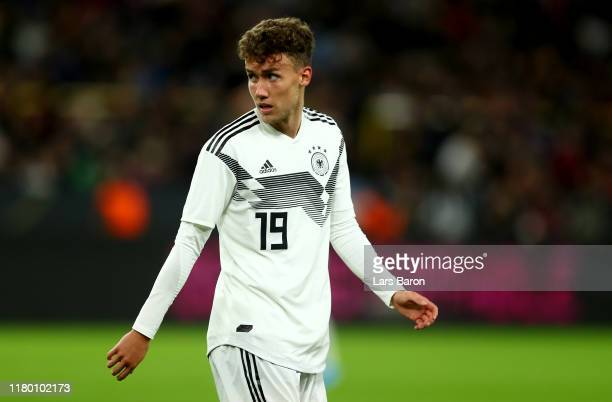 Luca Waldschmidt of Germany looks on during the International Friendly between Germany and Argentina at Signal Iduna Park on October 09 2019 in...