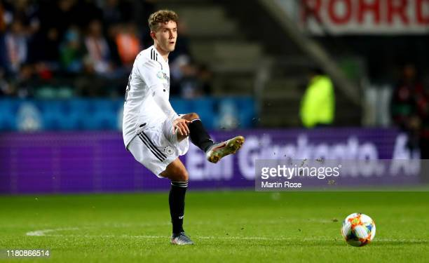 Luca Waldschmidt of Germany runs with the ball during the UEFA Euro 2020 qualifier between Estonia and Germany at A.Le Coq Arena on October 13, 2019...