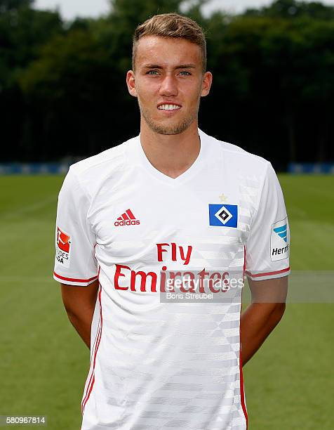 Luca Waldschmidt of Hamburger SV poses during the Hamburger SV Team Presentation at Volksparkstadion on July 25 2016 in Hamburg Germany