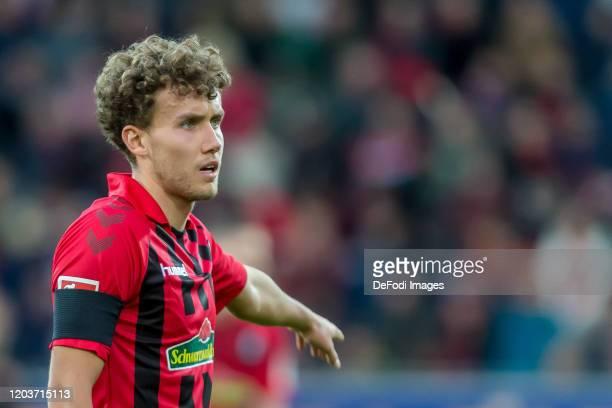 Luca Waldschmidt of SC Freiburg gestures during the Bundesliga match between Sport-Club Freiburg and Fortuna Duesseldorf 95 at Schwarzwald-Stadion on...