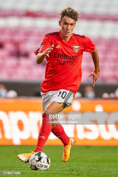 Luca Waldschmidt of SL Benfica in action during the Liga NOS match between SL Benfica and SC Farense at Estadio da Luz on October 04, 2020 in Lisbon,...
