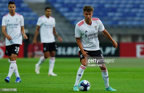 Luca Waldschmidt of SL Benfica in action during the Pre-Season Friendly match between SL Benfica and Lille at Estadio Algarve on July 22, 2021 in...