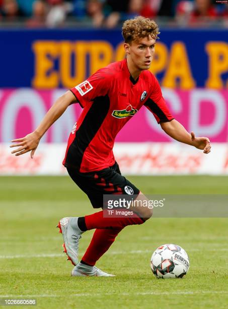 Luca Waldschmidt of SportClub Freiburg controls the ball during the Bundesliga match between SportClub Freiburg and Eintracht Frankfurt at...