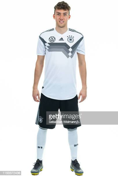 Luca Waldschmidt poses during the Germany U21 Team Presentation on March 23 2019 in Dusseldorf Germany