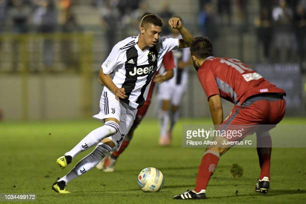 Luca Zanimacchia of Juventus during the Serie C match between Juventus U23 and Alessandria at on September 16 2018 in Alessandria Italy