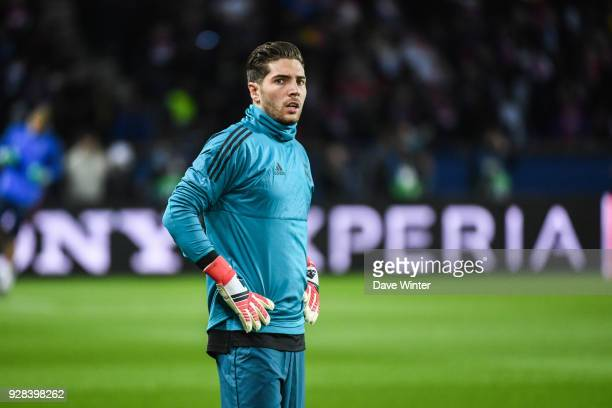 Luca Zidane during the UEFA Champions League Round of 16 Second Leg match between Paris Saint Germain and Real Madrid at Parc des Princes on March 6...