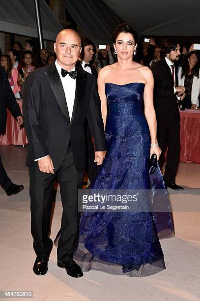 Luca Zingaretti and Luisa Ranieri attends the Opening Dinner during the 71st Venice Film Festival on August 27 2014 in Venice Italy