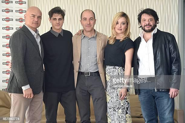 Luca Zingaretti Andrea Arcangeli Marco Pontecorvo Carolina Crescentini and Pasquale Petrolo attend 'Tempo Instabile Con Probabili Schiarite' Press...