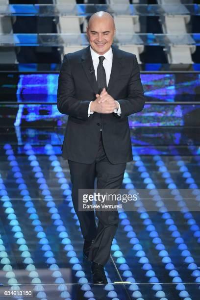 Luca Zingaretti attends the fourth night of the 67th Sanremo Festival 2017 at Teatro Ariston on February 10 2017 in Sanremo Italy