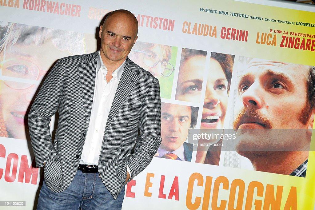 Luca Zingaretti attends the 'Il Comandante e La Cicogna' photocall at the Space Moderno on October 15, 2012 in Rome, Italy.