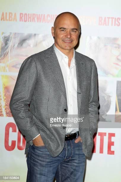 Luca Zingaretti attends the 'Il Comandante e La Cicogna' photocall at the Space Moderno on October 15 2012 in Rome Italy