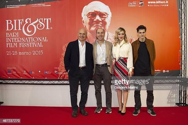 Luca Zingaretti Marco Pontecorvo Carolina Crescentini and Andrea Arcangeli attend the 'Tempo Instabile Con Probabili Schiarite' Film Press Conference...
